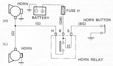 Horn Wiring Diagram: Tech Wiki - Horn : Datsun 1200 Club,Design