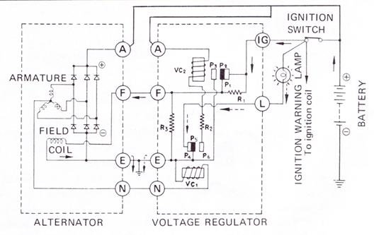 tech wiki voltage regulator datsun 1200 club datsun 280z wiring diagram 18732 jpg also see alternator wiring