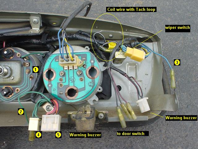 Tacho wiring, assistance please.. [Forum - Main Forum] : Datsun 1200 ...