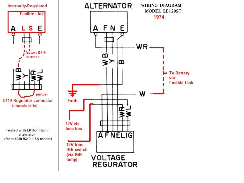 1978 Datsun 620 Wiring Diagram