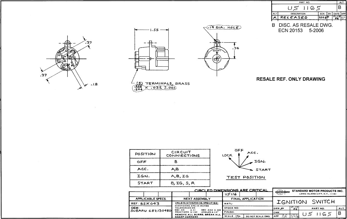 Tech Wiki Ignition Switch Datsun 1200 Club 1974 620 Truck Wiring Diagram 17016 51163e24b8bb3