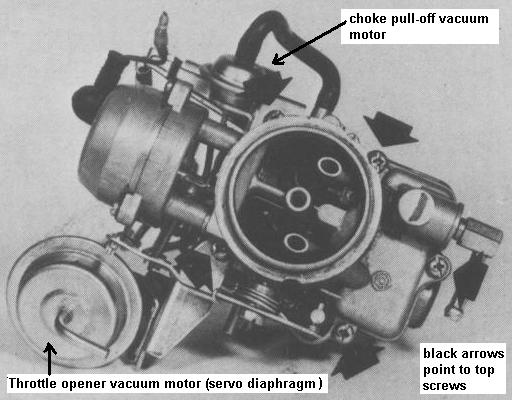Carburetor - Hitachi DCH306 top view