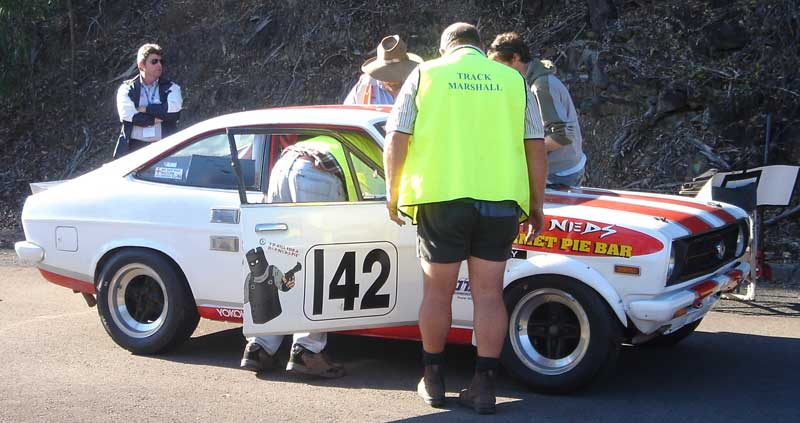 scrutineering before the days hillclimbing