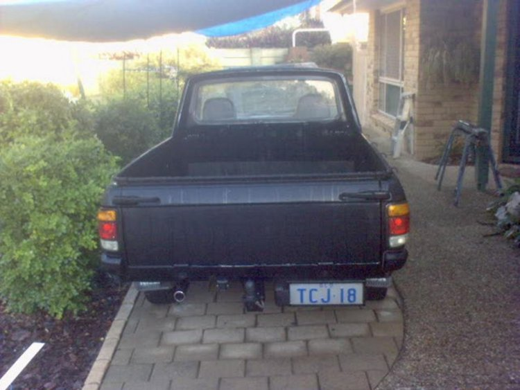 My 1200 ute number plate relocation