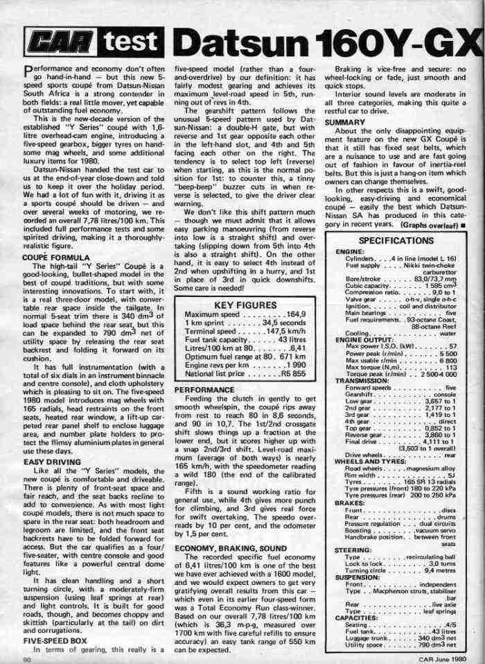 160Y GX Road Test (ZA) text