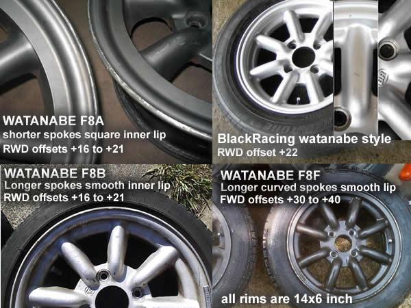 Watanabe rims styles