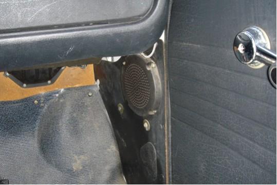 Optional radio speaker