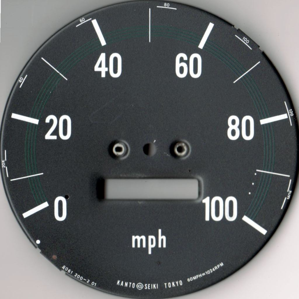 Speedometer Face - actual size