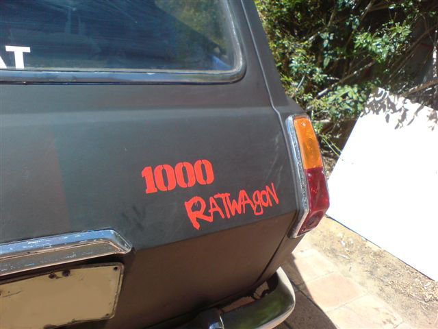 "New badging ""1000 Ratwagon"""