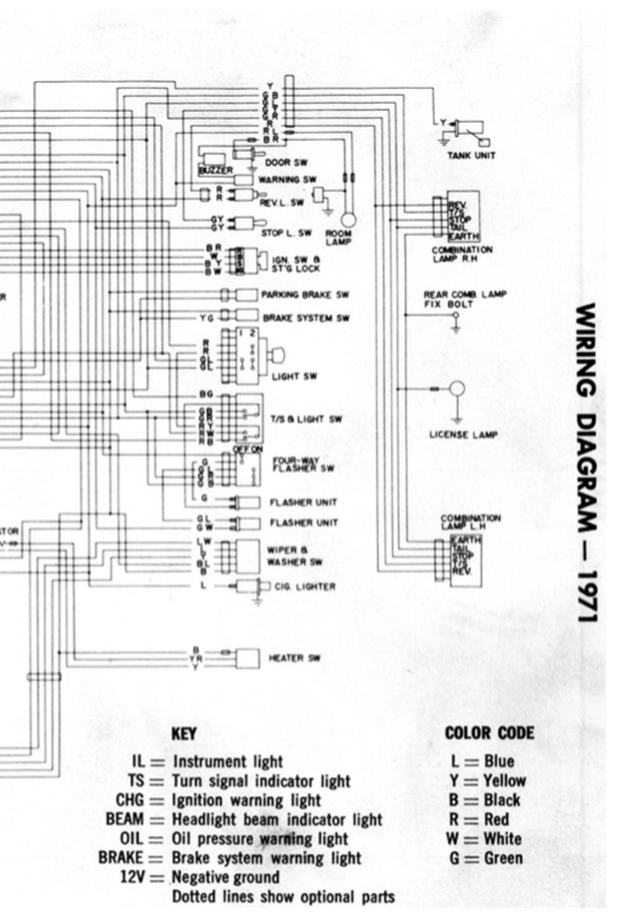 1971 Wiring Diagram (part 2 of 2)