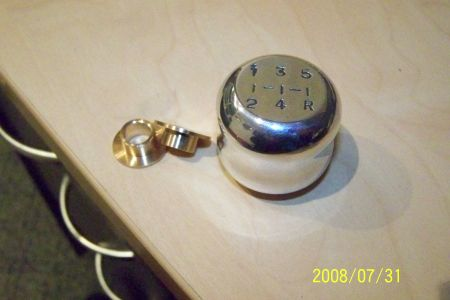 gear knob and bronze bushes for gear shift