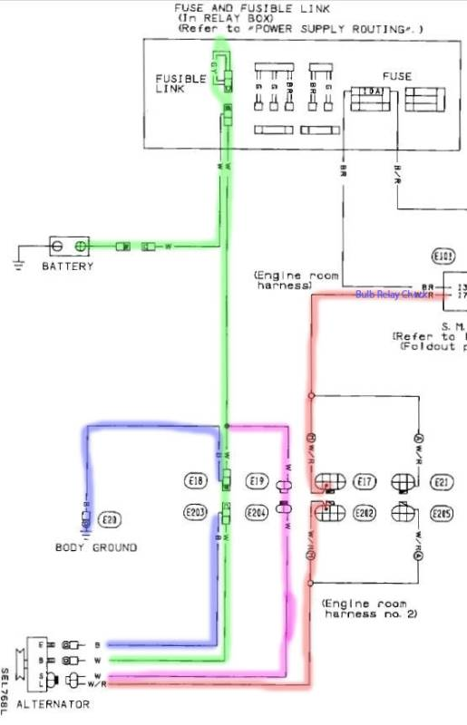17008 tech wiki basic alternator wiring datsun 1200 club nissan alternator wiring diagram at gsmportal.co