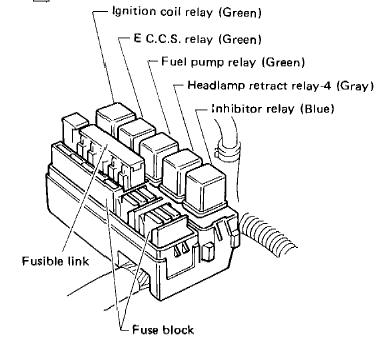 Tech Wiki - EFI Wiring : Datsun 1200 Club S Wiring Relay Box on relay computer, relay lights, relay coil, relay switch, relay parts, relay connections,