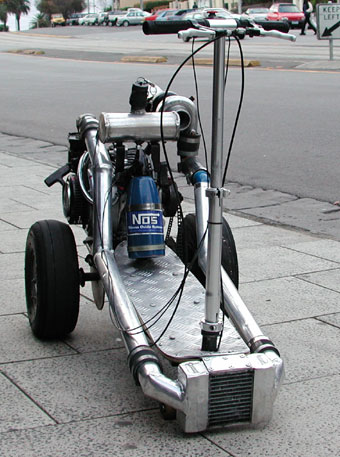 turbocharged scooter with nos : Datsun 1200 Club