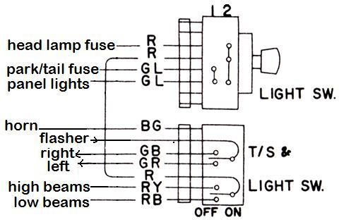 lighting switch and turn signal switch circuits 19666 jpg