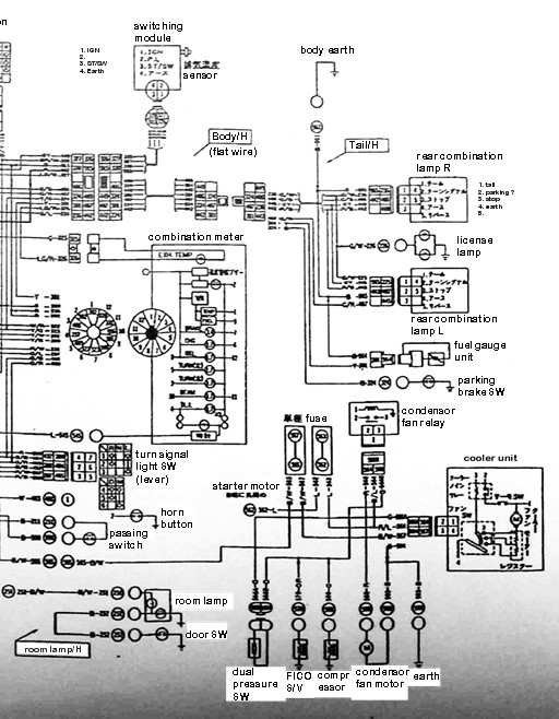 Nissan Sunny Truck Wiring Diagram  Body Right Half