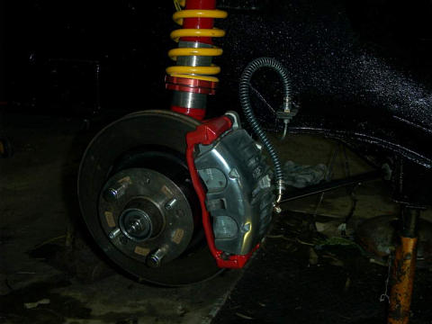 vt disc and caliper on a z strut
