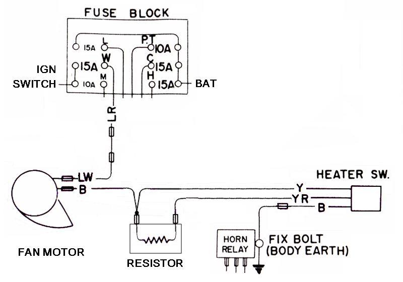 tech wiki - heater wiring : datsun 1200 club electric garage heater wiring diagram nissan 280zx heater wiring diagram #11