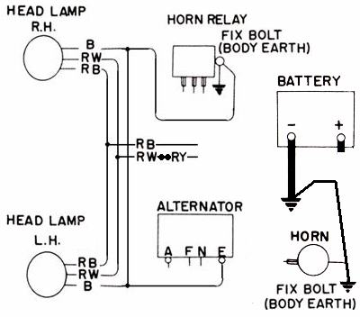 Tech Wiki - Headlight Wiring : Datsun 1200 Club Halogen Wiring Diagram Relay on