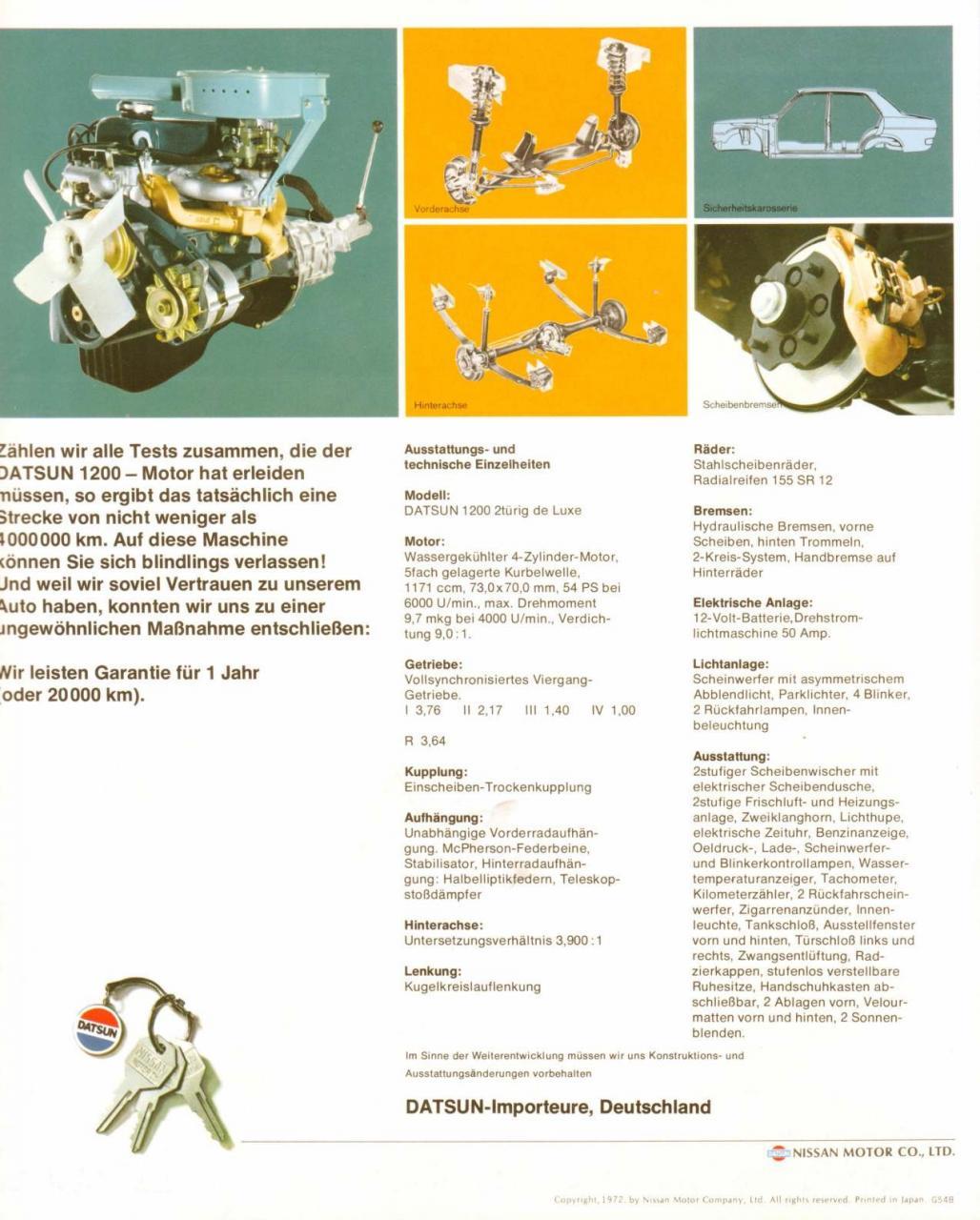 4/4 Blue 2-dr Brochure (German)
