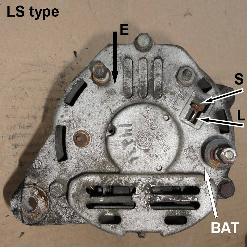 LS-type Datsun Alternator (internally regulated)