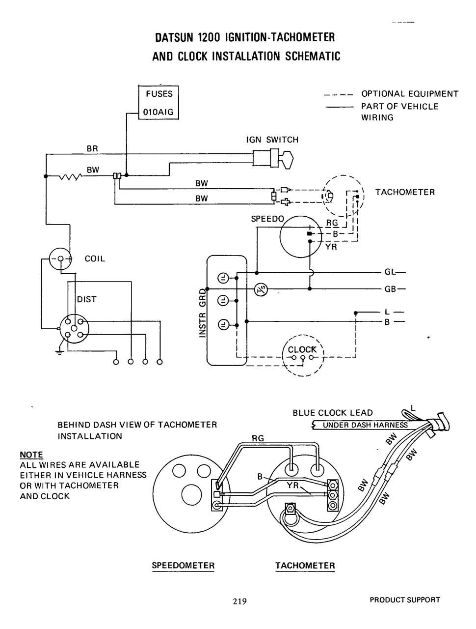 Tech Wiki - Tachometer Wiring : Datsun 1200 Club Nissan Engine Wiring Diagram on 2010 chrysler town and country engine diagram, nissan fuel system diagram, transmission wiring diagram, nissan 2.4 timing marks, nissan 3.3 engine diagram, nissan 2.4 liter engine diagram, nissan engine specifications, nissan brakes diagram, nissan engine torque specs, nissan distributor diagram, honda wiring diagram, nissan exhaust system diagram, toyota wiring diagram, nissan transfer case diagram, nissan engine valves, 2002 nissan xterra vacuum line diagram, nissan suspension diagram, nissan transmission diagram, nissan maxima engine part diagram, nissan radiator diagram,