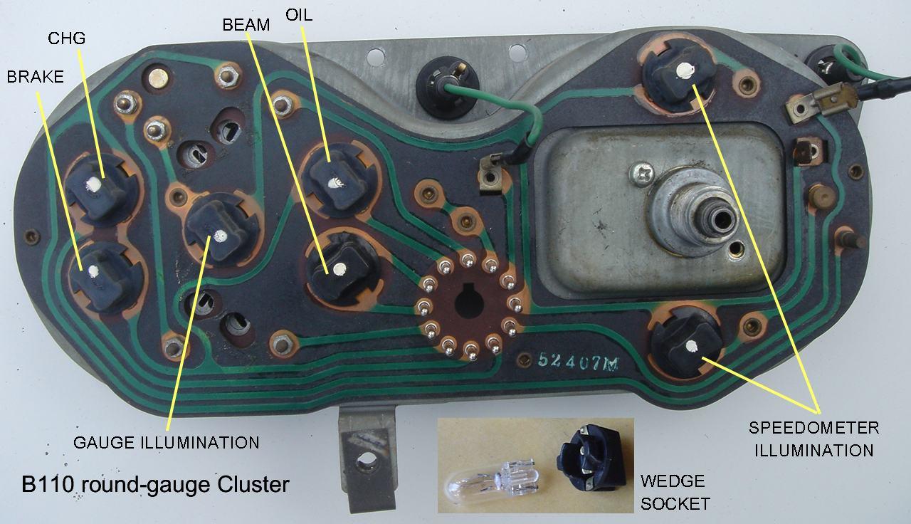 Tech Wiki Cluster Gauge Datsun 1200 Club Jeep Speedo Wiring See Main Article Instrument Panel