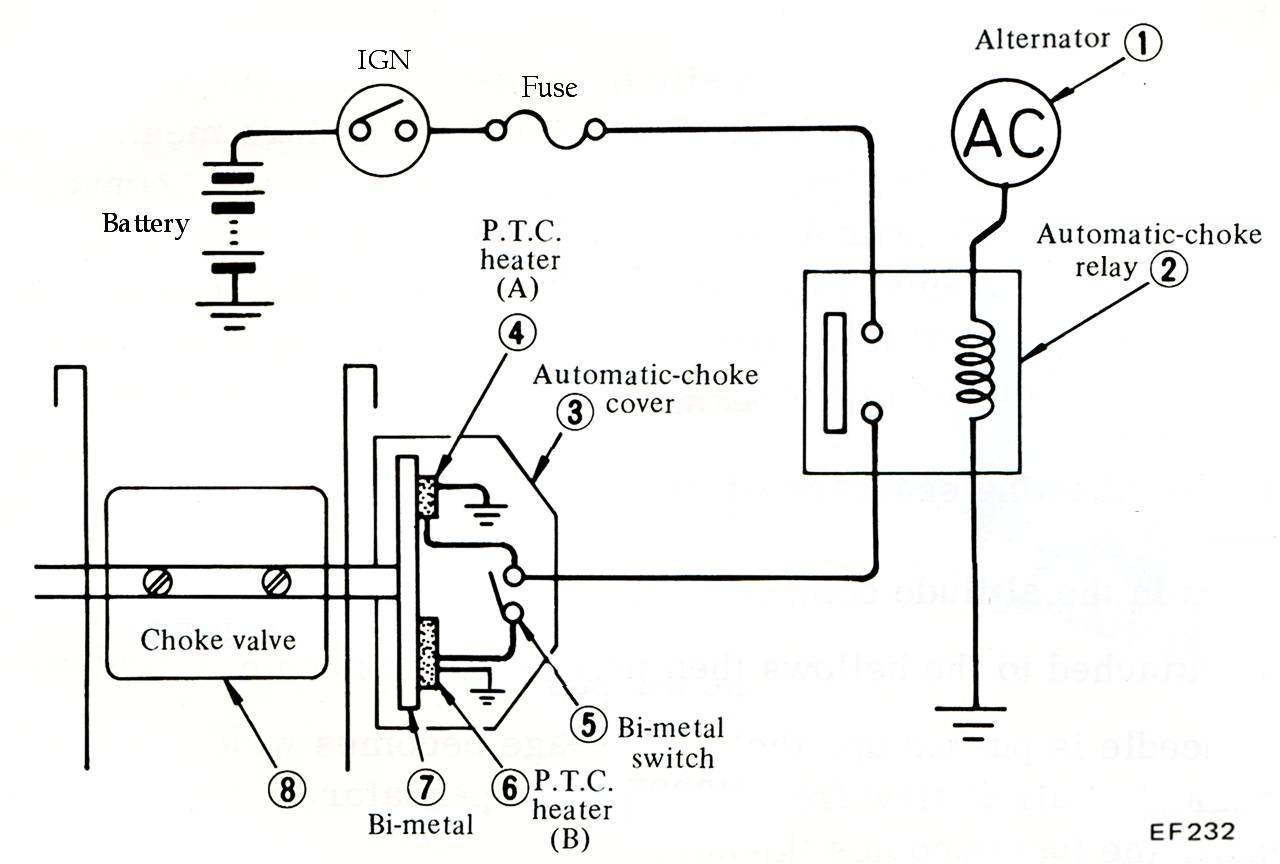 automatic choke wiring diagram