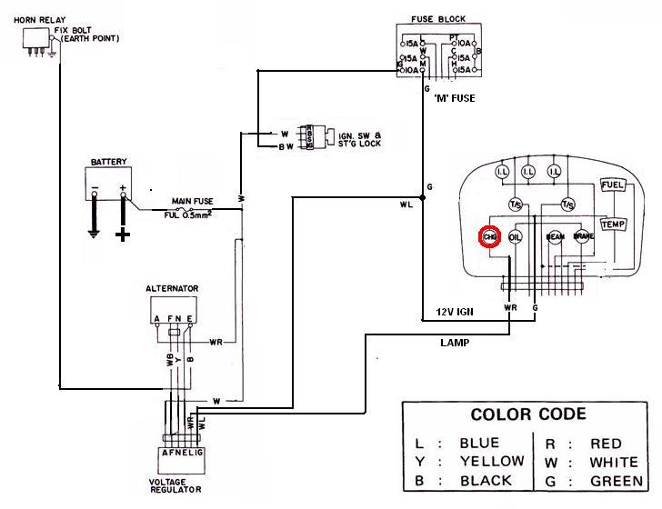 Tech Wiki - Alternator Wiring : Datsun 1200 Club Hitachi Alternator And Regulator Wiring on