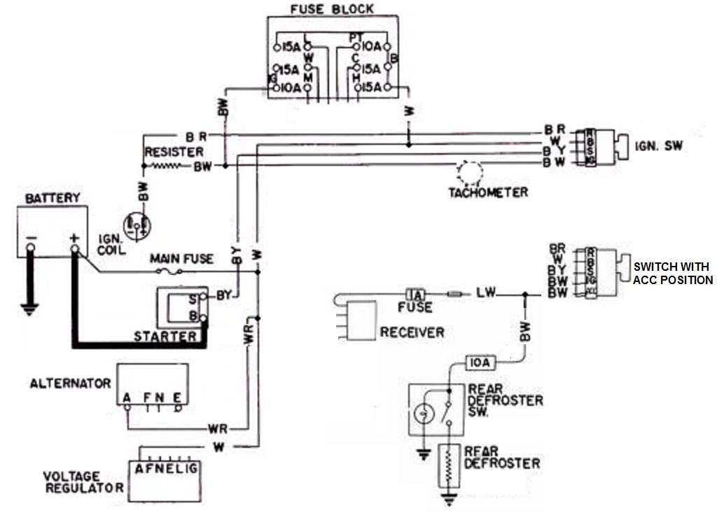 Tech Wiki - Ignition Switch : Datsun 1200 Club Ignition Chevy Pickup Starter Wiring Diagram on