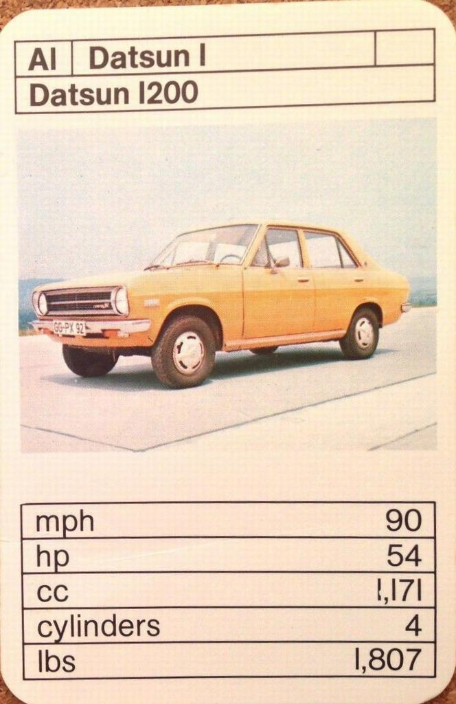 Top Trumps Datsun 1200