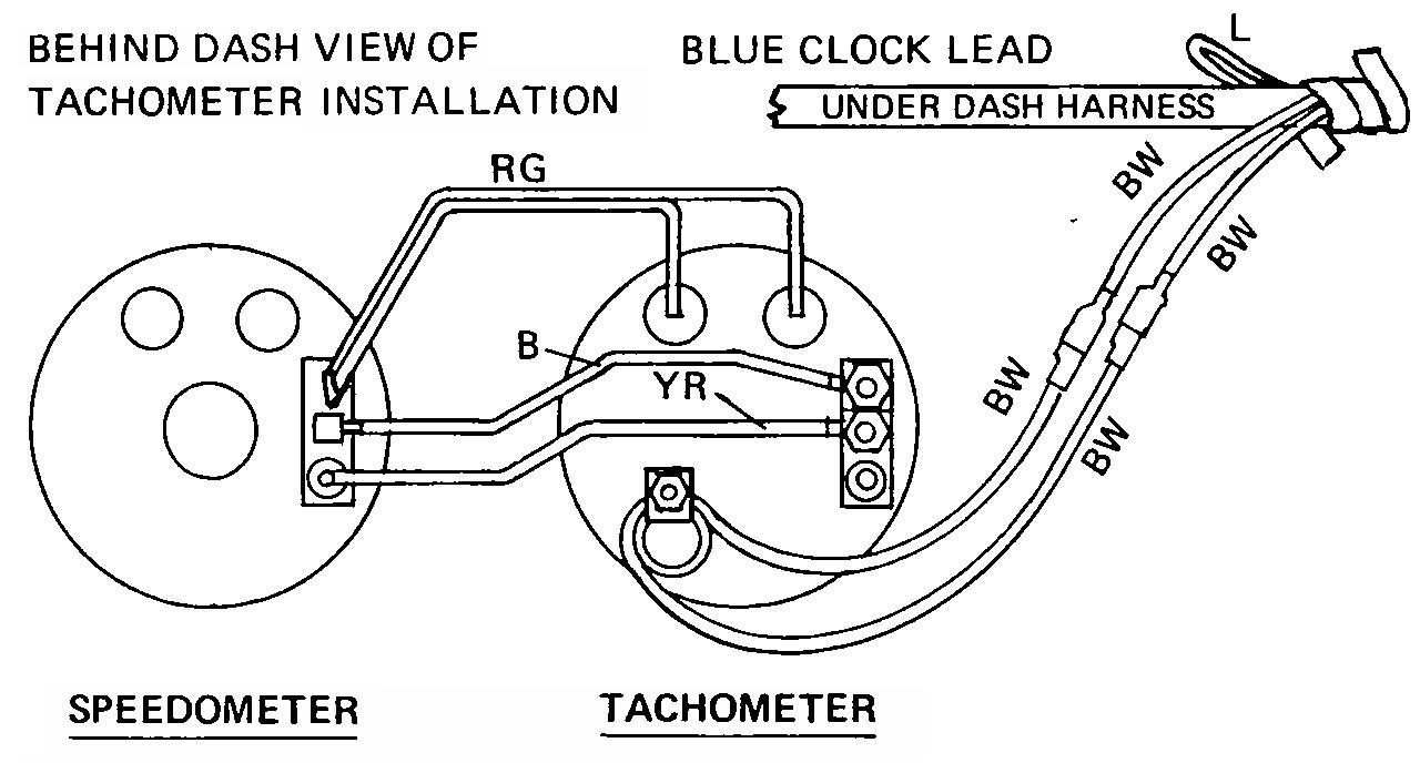 Tech Wiki - Tachometer Wiring : Datsun 1200 Club Impulse Tachometer Wiring Diagram on