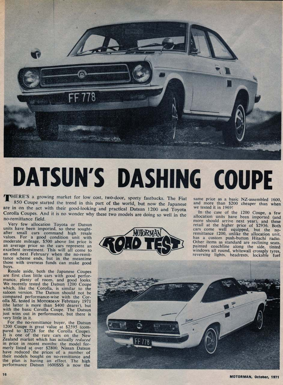 Datsun's Dashing Coupe 1 of 3
