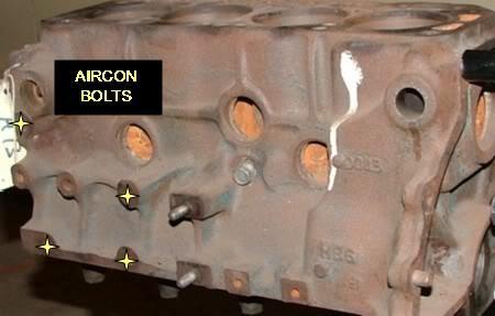 Aircon bolts