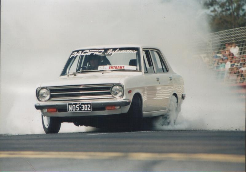 Image result for v8 datsun 1200 burnout