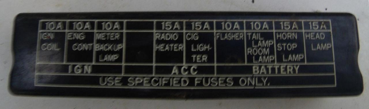 Tech Wiki - Fuse Box : Datsun 1200 Club Nissan Bakkie Fuse Box Diagram on nissan champion 1400, nissan 1 tonner, nissan 1400 car, nissan champ 1400 custom,