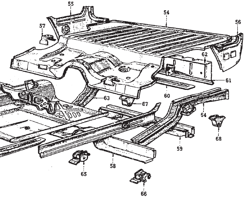 Van rear floor