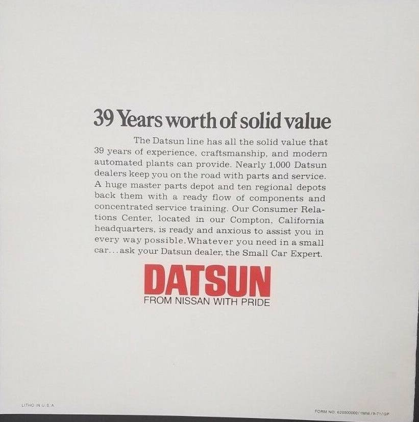 A Datsun for every day in the week - 39 Years Worth