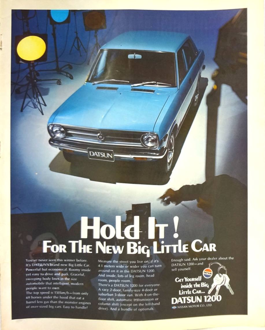 Hold It! For The New Big Little Car advert