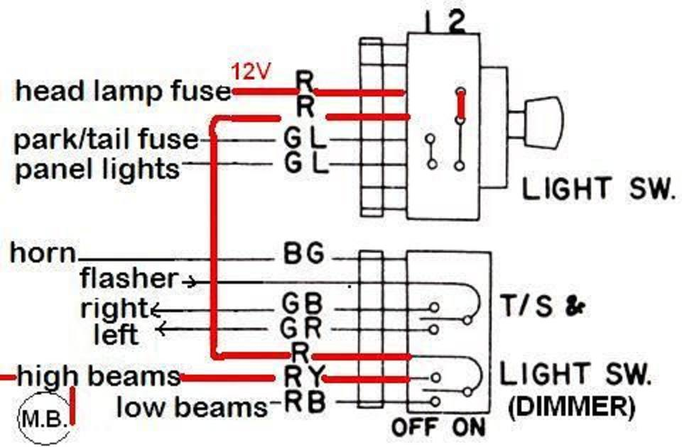 dash wiring - high beam indicator