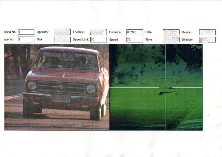 My speeding Fine Picture