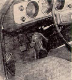 Datsun 1200 LHD footwell