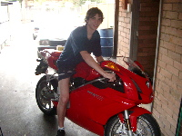 me on a Ducatti 999