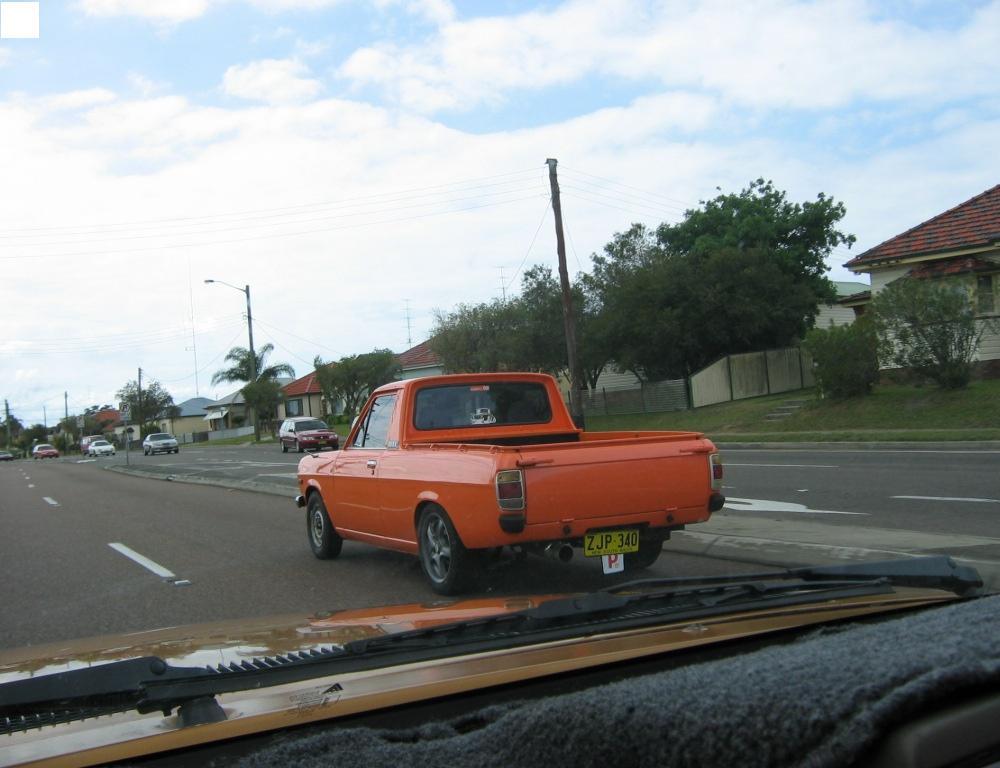 nice orange ute