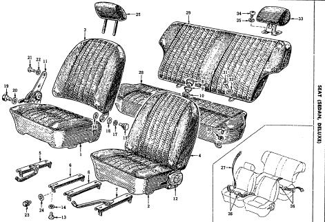 Seats, Headrests and seat belts