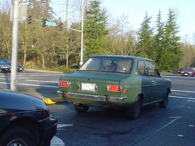 Green 2-dr Sedan sighted in Seattle