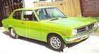 Lime green 2-dr sedan