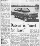 "Datsun is ""most for least"" (1 of 2)"