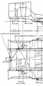 B210 Measurements (detail, front)