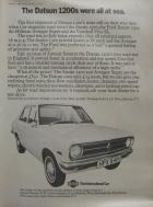 The Datsun 1200s were all at sea